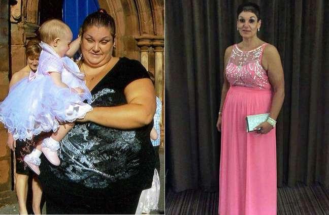 <p>Inglesa perdeu 89kg em 18 meses</p>