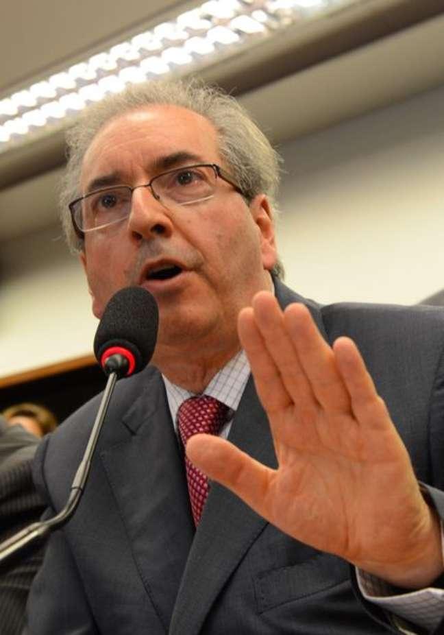 <p>Eduardo Cunha, candidato a presidente da C&acirc;mara</p>