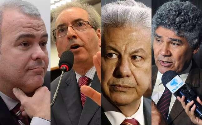 Candidatos a presidência da Câmara dos Deputados: Júlio Delgado (PSB-MG), Eduardo Cunha (PMDB-RJ), Arlindo Chinaglia (PT-SP) e Chico Alencar (Psol-RJ).