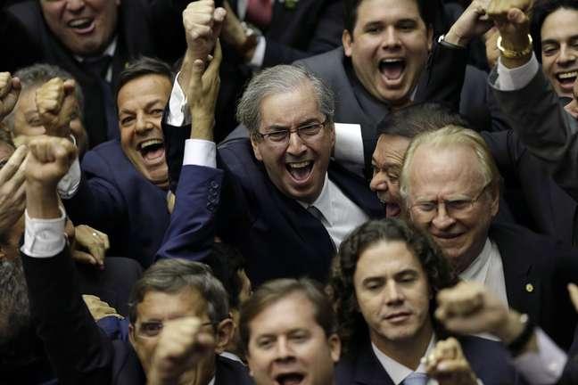 Liderando um bloco de 218 deputados, Cunha obteve um número ainda maior de votos