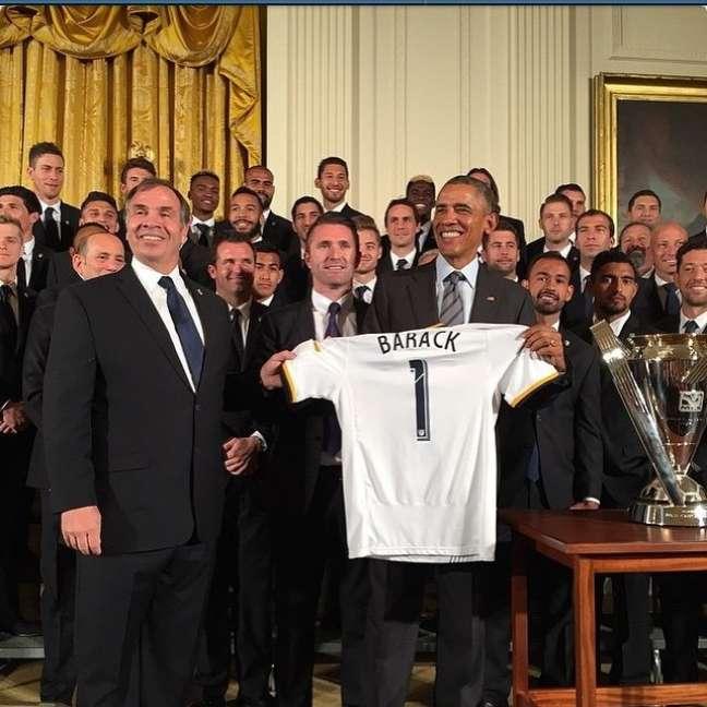 Presidente americano Barack Obama recebeu equipe do Los Angeles Galaxy