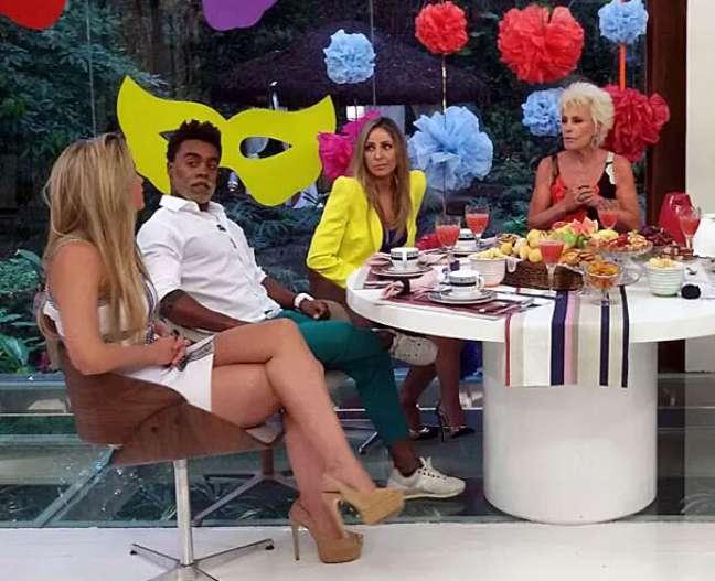 Aline, Douglas e Fran foram convidados de Ana Maria Braga