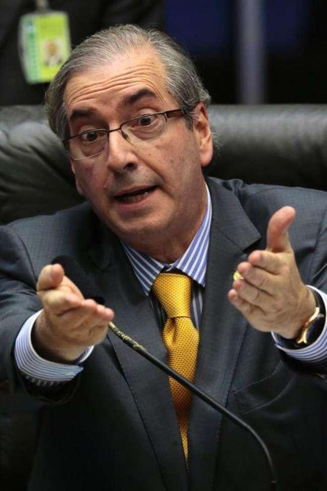 <p>Presidente da C&acirc;mara dos Deputados, Eduardo Cunha, criador da comiss&atilde;o que discutir&aacute; a PEC da Maioridade Penal, em Bras&iacute;lia</p>