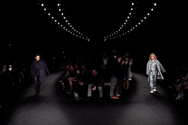Atores filmavam sequência do longa 'Zoolander' na semana de moda francesa