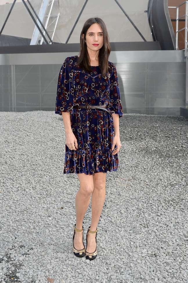 A atriz hollywoodiana Jennifer Connelly esteve no desfile da Louis Vuitton