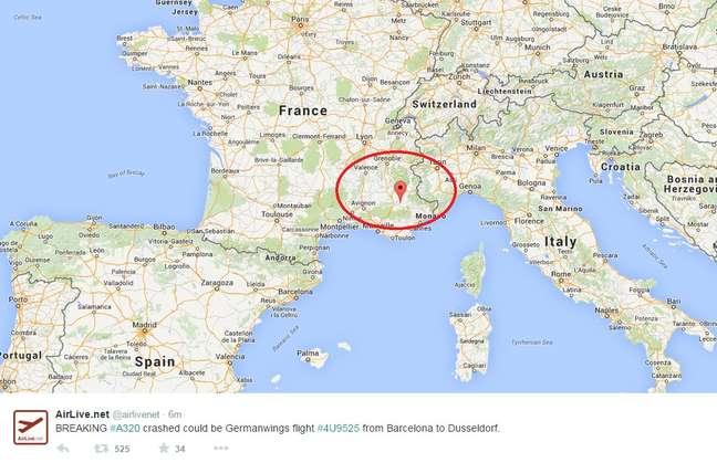 Avião com ao menos 142 passageiros caiu nesta terça-feira nos Alpes franceses
