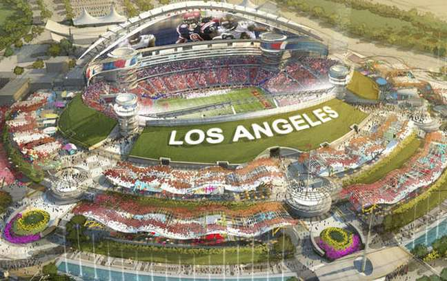 <p>Los Angeles ter&aacute;&nbsp;Hollywood Park Stadium para receber um (ou mais) times da NFL</p>