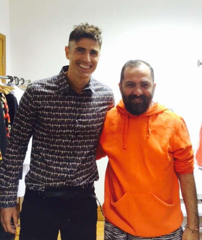 Reynaldo Gianecchini e Alberto Hiar, diretor criativo da Cavalera