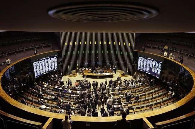 Vista geral do plenário da Câmara dos Deputados em Brasília. 03/12/2014