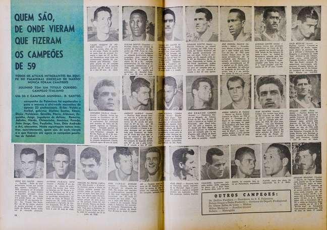 """Primeira Academia"" conquistou o Campeonato Paulista de 1959"