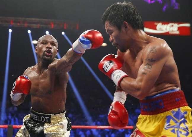 Mayweather e Pacquiao fizeram combate morno em Las Vegas