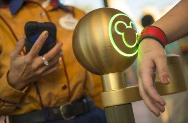 A pulseira da alegria (ou da tristeza): com a Magic Band você insere eletronicamente com um chip seus ingressos e fast passes. E pode cadastrar seu cartão de crédito para pagamentos