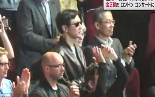 Kim Jong-chul, 33 anos, foi flagrado publicamente de óculos escuros e jaqueta de couro durante um show de Clapton no Royal Albert Hall, em Londres