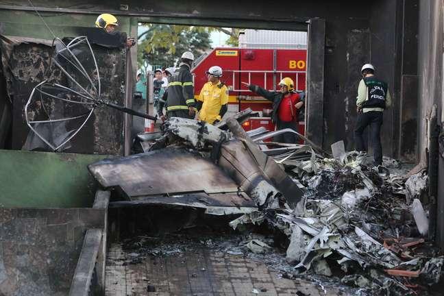 Aeronave decolou do Aeroporto da Pampulha pouco antes de cair
