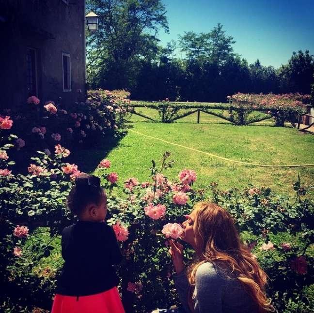 Beyoncé publicou fotos de sua família neste domingo (7)