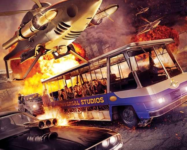 Estúdio Universal inaugura brinquedo do filme Velozes e Furiosos nesta quarta-feira (24)