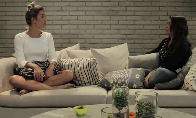A atriz foi entrevistada pela blogueira fitness Gabriela Pugliesi