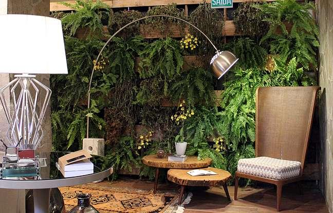 Jardim vertical traz a natureza para dentro de casa e pode ser adotado em espaços pequenos