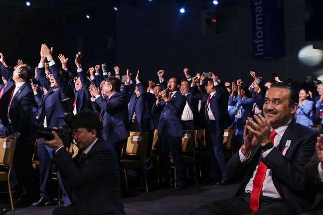 Dirigentes chineses comemoram muito a eleição de Pequim