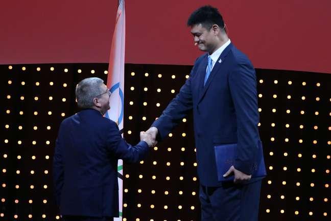 """""""Gigante"""" chinês Yao Ming participou do evento que elegeu Pequim sede de 2022"""