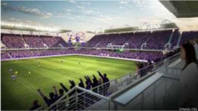Maquete do novo estádio do Orlando, que deverá custar US$ 155 milhões