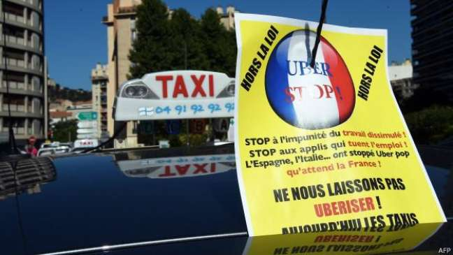 Protesto anti-Uber na França: Tribunal de Justiça da UE analisa se aplicativo deve ser classificado como serviço de transporte ou digital