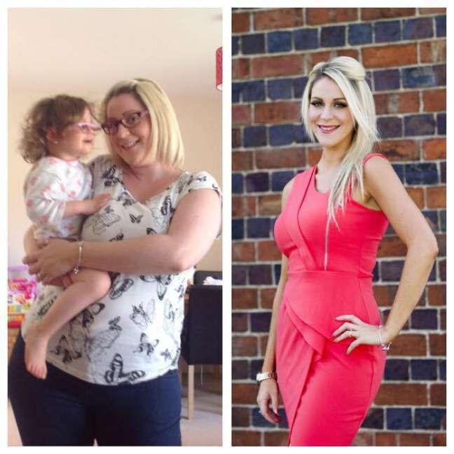 Zoey Patrick antes e depois de emagrecer 30 kg em um ano