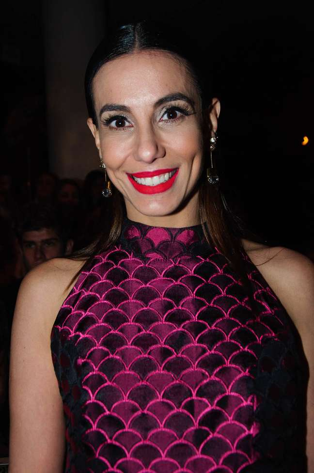 Tania Khalill sentou na primeira fila da grife Lilly Sarti