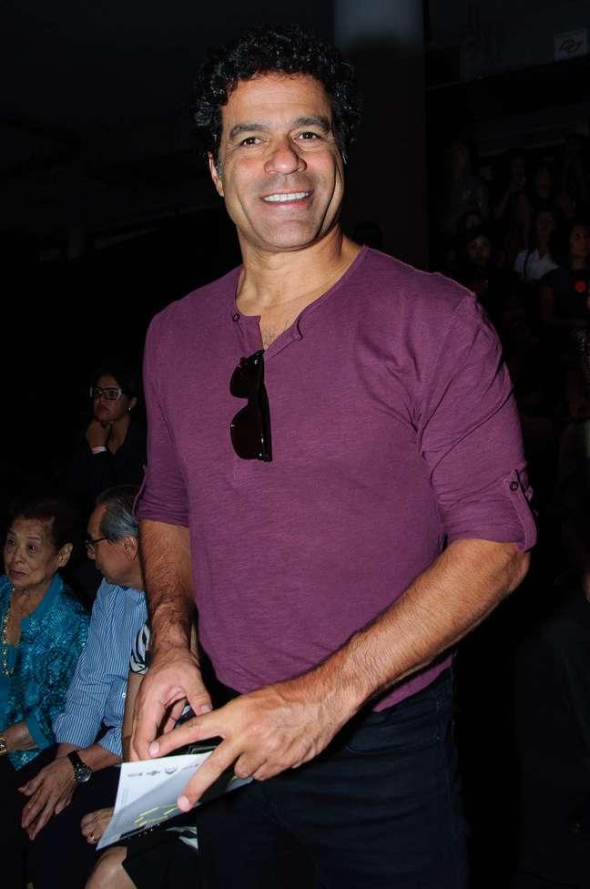 O ex-jogador Raí marca presença na 40ª edição do São Paulo Fashion Week