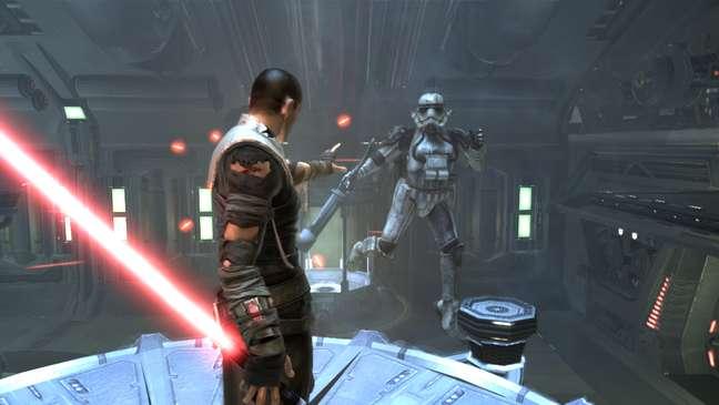 O protagonista do game é Starkiller, o aprendiz secreto de Darth Vader
