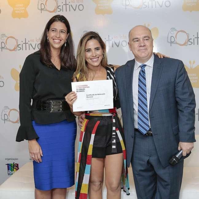 Wanessa Camargo na cerimônia de nomeação em Brasília