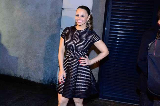 Viviane Araújo chegando na casa do apresentador