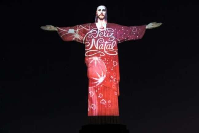 Cristo iluminado para o Natal