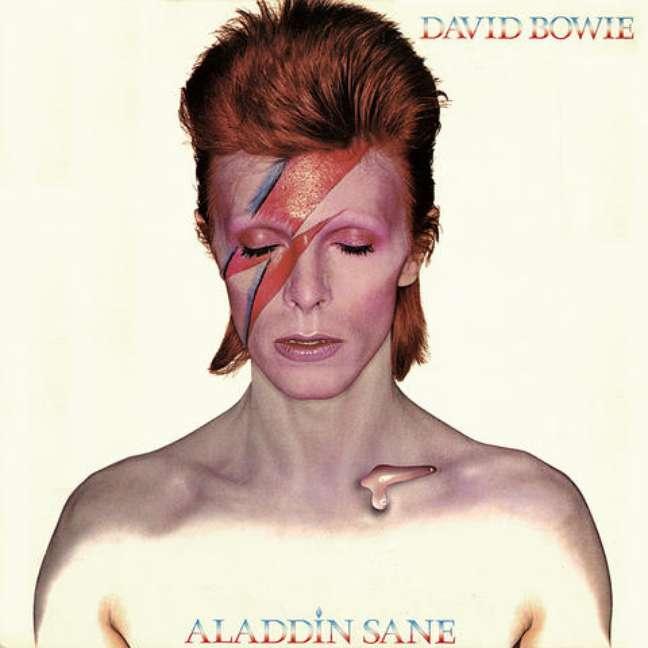 Capa do álbum Aladdin Sane, lançado em 1973.