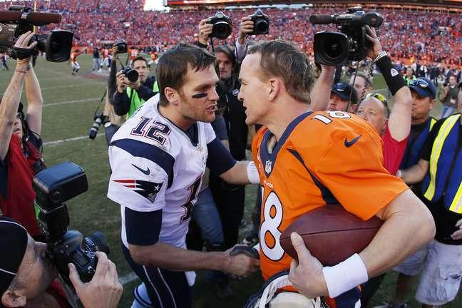 Na final da AFC, Payton Manning reencontrou o 'rival' Tom Brady
