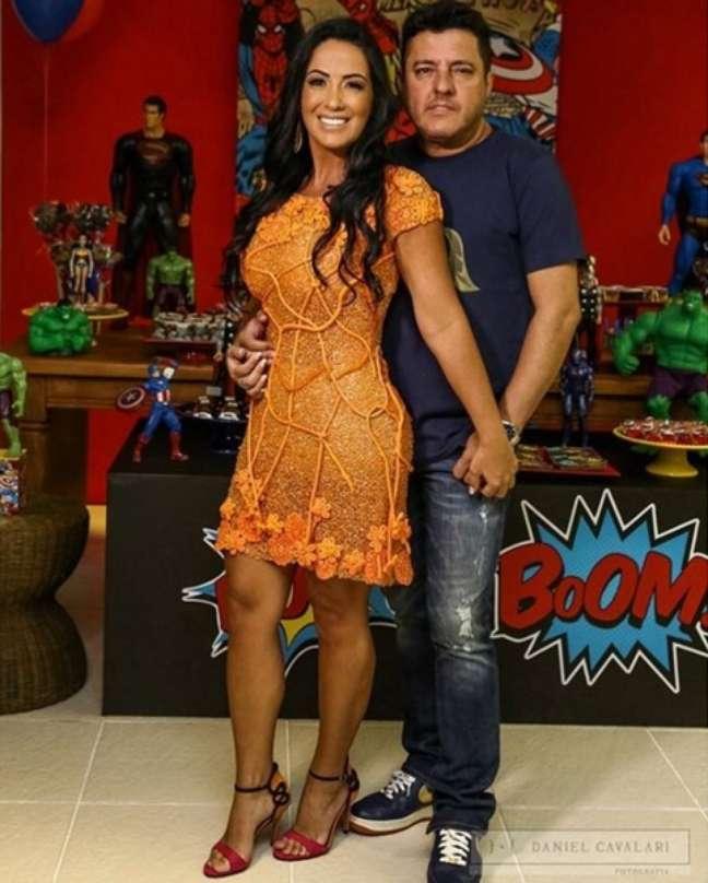 A advogada e blogueira de moda Marianne Rabelo é a grande musa de Bruno, da dupla Bruno e Marrone. Casados, os dois são pais dos gêmeos Maria Eduarda e Enzo, de 8 anos