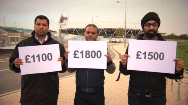 Trabalhadores localizados pela BBC levaram calote que soma aproximadamente R$ 91 mil