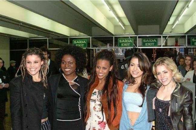 """As """"Spice Girls brasileiras"""" ganharam fama ao vencer o programa Popstar em 2002"""