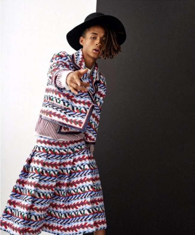 O filho de Will Smith é a nova cara da campanha feminina da grife Louis Vuitton. Sim, feminina