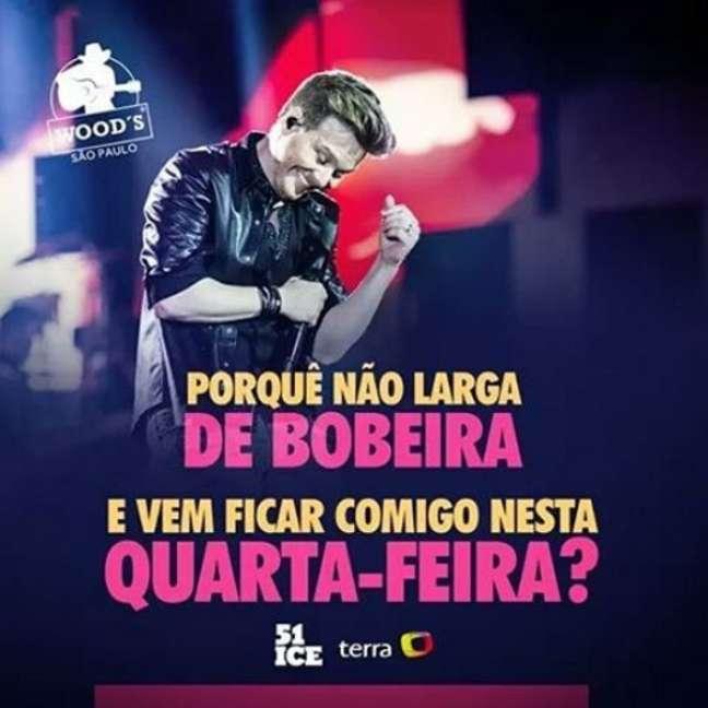 O show de Michel Teló na Wood's, em São Paulo, fechará com chave de ouro o projeto Terra Live Music Sertanejo, patrocinado pela 51 Ice