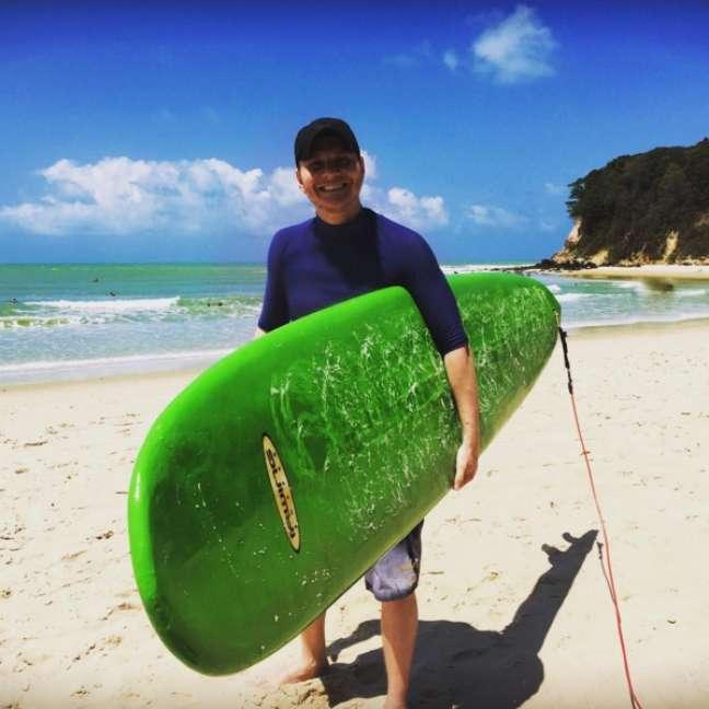 Em outubro de 2015, Teló aproveitou o feriado de 12 de outubro para pegar uma praia com a esposa e praticar um pouco de surfe