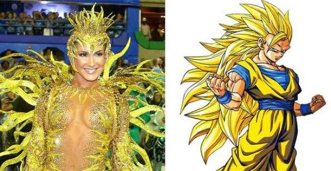Vestida de sol, Claudia foi comparada a desenhos animados ao passar pela Sapucaí, no Rio de Janeiro, pela Mocidade Independente de Padre Miguel no penúltimo carnaval