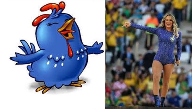 Nas imagens que circularam, tanto pelas redes sociais, quanto por grupos de WhatsApp, a cantora é comparada ao personagem infantil Galinha Pintadinha