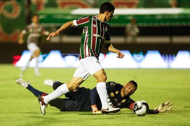 Magno Alves chegou a passar pelo goleiro no primeiro tempo, mas não conseguiu marcar