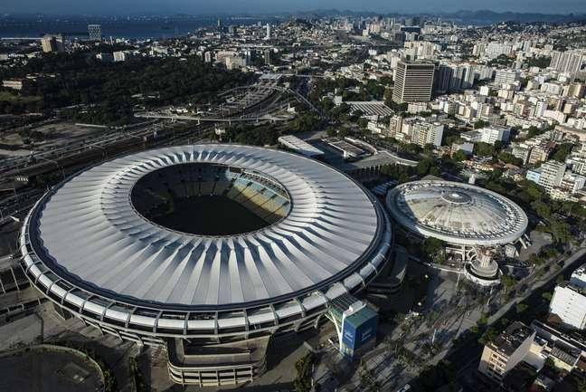 Estádio do Maracanã, situado na zona oeste do Rio