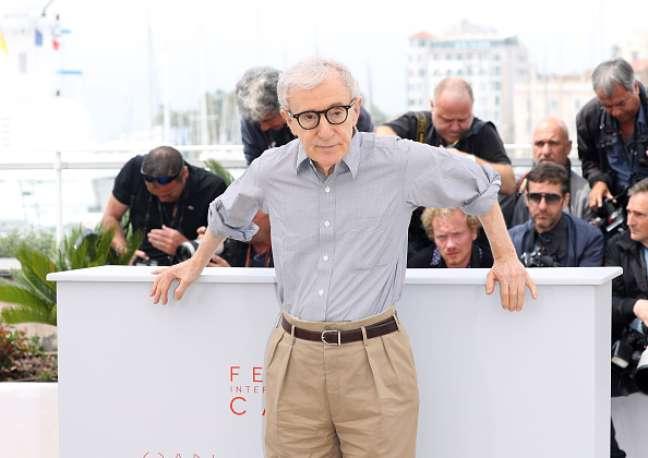 Woody Allen em sessão de fotos em Cannes