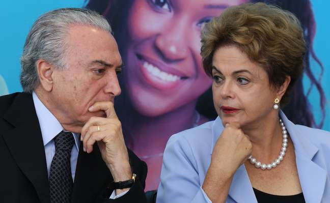 Michel Temer e Dilma Rousseff em agosto de 2015