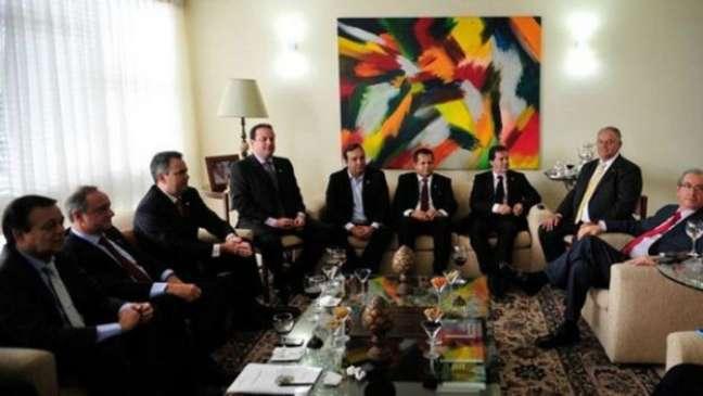 Casa de Cunha já sediava reuniões de partidos do centrão em 2014