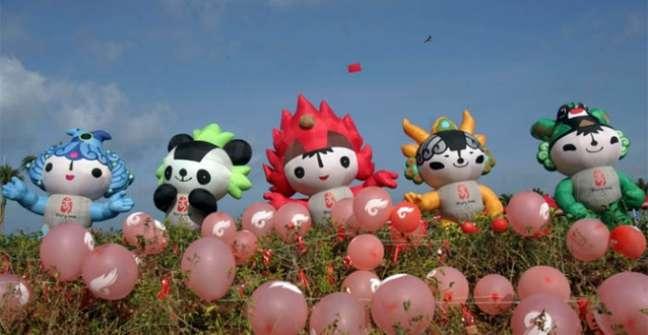 Mascote - Beibei, Nini, Huanhuan, Yingying e Jingjing - Pequim 2008