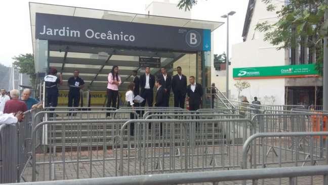 Estação Jardim Oceânico, na Barra, é a última da Linha 4 para quem sai de Ipanema (Foto: Jonas Moura)